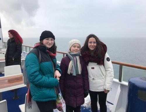 Kurz notiert – Schülerinnen und Schüler der Baltic-Schule treffen Klimaaktivistin