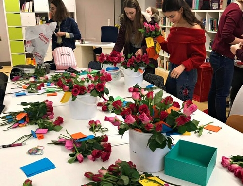 Ein Meer von Rosen zum Valentinstag