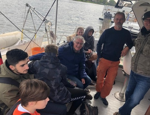 """Besuch des """"Klimaschutz""""  auf dem Boot unseres Kooperationspartners sobootia"""